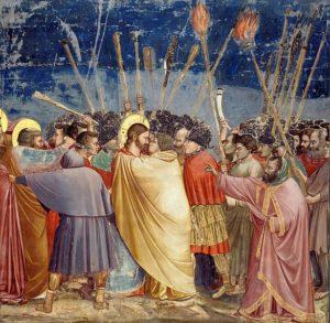 『ユダの接吻』 スクロヴェーニ礼拝堂(1305年頃)